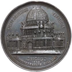 1893 Columbian Exposition - Administration Building/J. Friedman & Co. Medal. Obverse of Eglit-28
