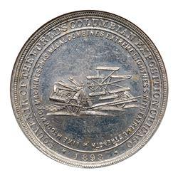 1893 McCormick Reaper Dollar, HK-242, Eglit-44, Aluminum. NGC MS62