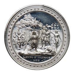 1893 Landing of Columbus Medal. Eglit-54, White metal. NGC MS61 Deep Mirror Prooflike.