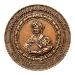 1893 Columbian Exposition - Christopher Columbus, Eglit-55, Bronze. About Uncirculated
