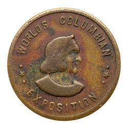 1893 Columbian Expo - Canadian Court. Eglit-216 var., Bronze, Very Fine