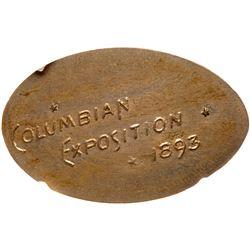 1893 Columbian Exposition Elongated 1889 5-cent. Eglit-372. NGC MS64.