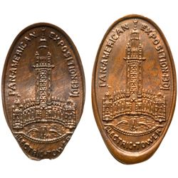 Two 1901 Pan-American Exposition - Electric Tower - Armour & Co. Shield Brand on elogated Indian Hea