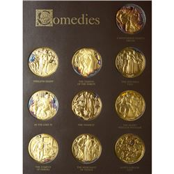 United States, The Shakespeare Gold-Plated Silver Medal Collection
