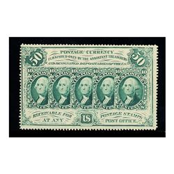 1862, 50c Fractional Currency. First Issue, perforated edges, with ABCO monogram. PCGS Choice About