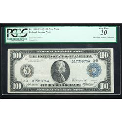 1914, $100 Federal Reserve Note