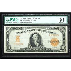 1907, $10 Gold Certificate