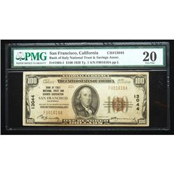 1929, $100 National Bank Note