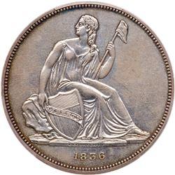 1836 Pattern Dollar. Silver, plain edge. PCGS PF55