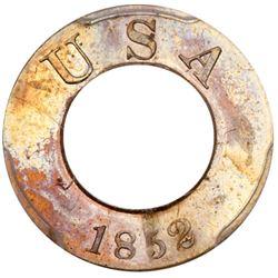 1852 Pattern Gold Dollar. Copper-nickel, plain edge. PCGS PF66