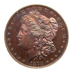 1879 Pattern Dollar. Copper, reeded edge. PCGS PF66