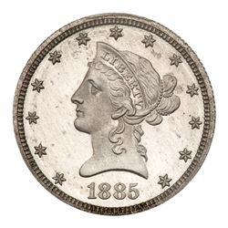 1885 Pattern Eagle. Aluminum, reeded edge. PCGS PF66