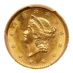 1852 $1 Gold Liberty. PCGS MS64