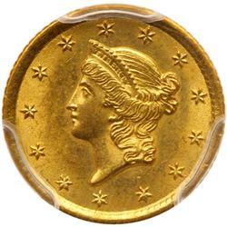 1852-O $1 Gold Liberty. PCGS MS64