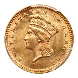 1874 $1 Gold Indian