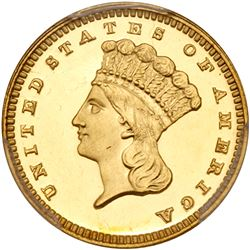 1888 $1 Gold Indian. PCGS PF65