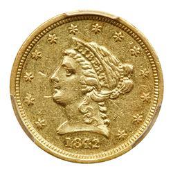1842-D $2.50 Liberty. PCGS AU53