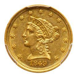 1849-D $2.50 Liberty. PCGS AU58