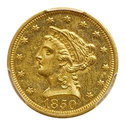 1850-C $2.50 Liberty. PCGS MS61