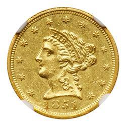 1851-C $2.50 Liberty. NGC MS61