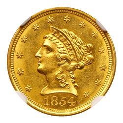 1854-O $2.50 Liberty. NGC MS63