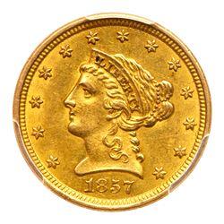 1857-O $2.50 Liberty. PCGS MS61