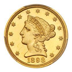 1898 $2.50 Liberty. PCGS PF66