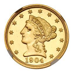 1904 $2.50 Liberty. NGC PF67