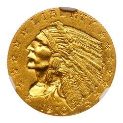 1910 $2.50 Indian. NGC PF66