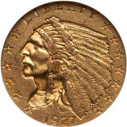 1927 $2.50 Indian. NGC AU58