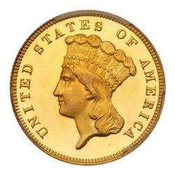 1883 $3 Gold. PCGS PF66