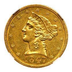 1847-C $5 Liberty. NGC MS62