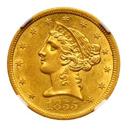 1855-O $5 Liberty. NGC MS61