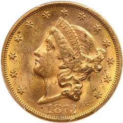 1873-S $20 Liberty. Closed 3. PCGS MS62