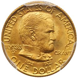 1922 Grant Gold Dollar, with star. PCGS MS68