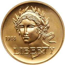 1988 $5.00 Gold Gem BU Olympic
