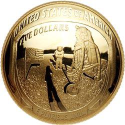2019 Apollo 11 50th Anniversary $5 gold coin