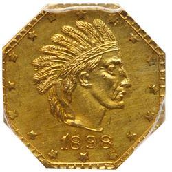 (1898) Alaska 1 Pinch Gold. X-Tn6, HK-844, Rarity 6. PCGS MS63