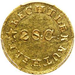 Christopher Bechtler, ONE DOLLAR CAROLINA, 28 gr., N reversed. PCGS MS62