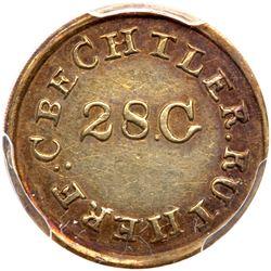 Christopher Bechtler, ONE DOLLAR N. CAROLINA, 28 gr. high, no star. PCGS AU58