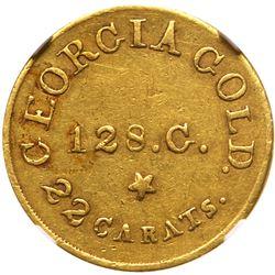 Christopher Bechtler, 5 DOLLARS GEORGIA, RUTHERF., 128 gr. 22 carats. NGC AU58