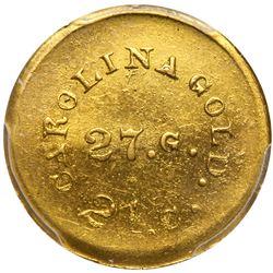 August Bechtler, 1 DOLLAR CAROLINA, 27 gr. 21 carats. PCGS MS63