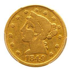 1849 Moffat & Co. (San Francisco) $5 Gold. PCGS VG10