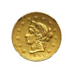 1852 Wass, Molitor & Co. (San Francisco) $10 Gold. Large head. NGC AU58