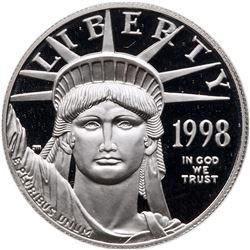 1998 $100 American Platinum Eagle