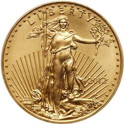 2012 American $50.00 1 oz Gold Eagle
