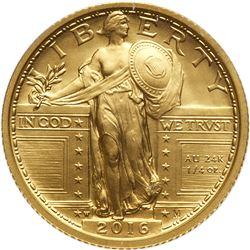 2016 Standing Liberty Quarter Gold Coin