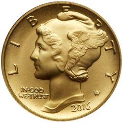 2016-W Mercury Dime Gold Coin