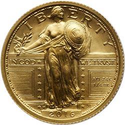 2016-W Standing Liberty Gold Quarter