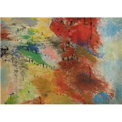14LA LangdonArt original painting for table, selve, paperweight on desk at home or office - peinture